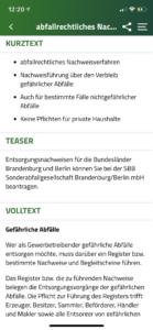 Screenshot Bürgerservice
